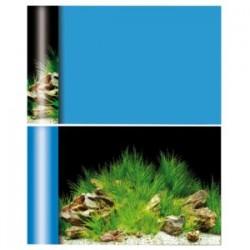 Poster Fondo Azul/plantas...